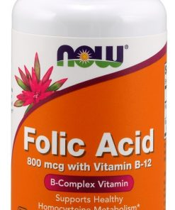 Folic Acid 800 mcg with Vitamin B-12, 250 Tablets