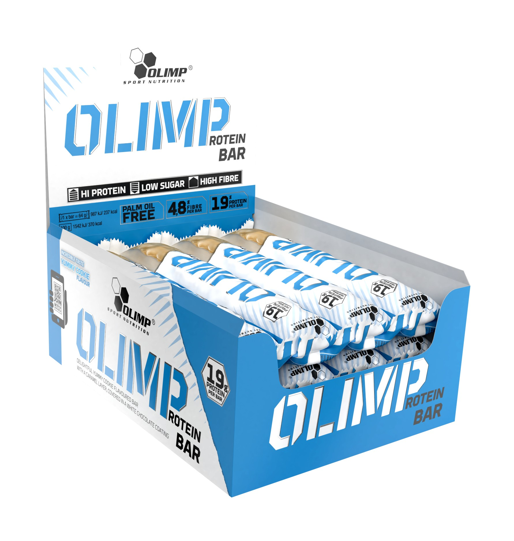 Olimp Bar Yummy Cookie Kassi 12 stykki