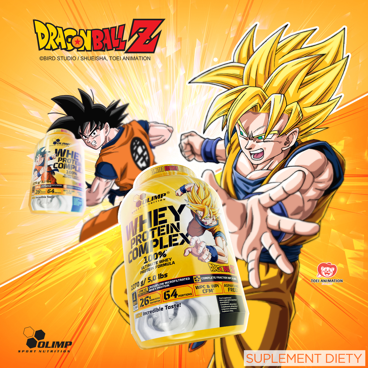 Whey Protein Complex 100% Dragon Ball Z edition 2275g - Vaxtarvörur